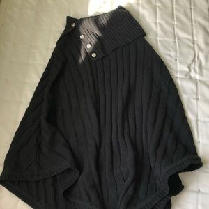 Black Michael Kor's Poncho Sweater